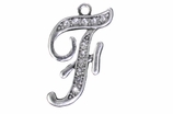 "W1592-F-SC CRYSTAL SCRIPT ""F"" CHARM <BR><FONT size=""2"">Buy 1-2 for $4.25 Each<br>Buy 3-5 for $4.15 Each<br>Buy 6-11 for $3.65 Each<br>Buy 12-23 for $3.45 Each<br>Buy 24-49 for $3.25 Each<br>Buy 50 or More for $3.09 Each</font>"