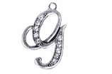 "W1592-G-SC CRYSTAL SCRIPT ""G"" CHARM <BR><FONT size=""2"">Buy 1-2 for $4.25 Each<br>Buy 3-5 for $4.15 Each<br>Buy 6-11 for $3.65 Each<br>Buy 12-23 for $3.45 Each<br>Buy 24-49 for $3.25 Each<br>Buy 50 or More for $3.09 Each</font>"