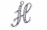 "W1592-H-SC CRYSTAL SCRIPT ""H"" CHARM <BR><FONT size=""2"">Buy 1-2 for $4.25 Each<br>Buy 3-5 for $4.15 Each<br>Buy 6-11 for $3.65 Each<br>Buy 12-23 for $3.45 Each<br>Buy 24-49 for $3.25 Each<br>Buy 50 or More for $3.09 Each</font>"