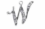 "W1592-W-SC CRYSTAL SCRIPT ""W"" CHARM <BR><FONT size=""2"">Buy 1-2 for $4.25 Each<br>Buy 3-5 for $4.15 Each<br>Buy 6-11 for $3.65 Each<br>Buy 12-23 for $3.45 Each<br>Buy 24-49 for $3.25 Each<br>Buy 50 or More for $3.09 Each</font>"