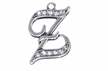 "W1592-Z-SC CRYSTAL SCRIPT ""Z"" CHARM <BR><FONT size=""2"">Buy 1-2 for $4.25 Each<br>Buy 3-5 for $4.15 Each<br>Buy 6-11 for $3.65 Each<br>Buy 12-23 for $3.45 Each<br>Buy 24-49 for $3.25 Each<br>Buy 50 or More for $3.09 Each</font>"
