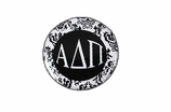 "W1639SC - ALPHA DELTA PI BLACK AND WHITE FLORAL DISK CHARM<BR><FONT size=""2"">Buy 1-2 for $6.25 Each<br>Buy 3-5 for $5.63 Each<br>Buy 6-11 for $3.75 Each<br>Buy 12-23 for $3.56 Each<br>Buy 24-49 for $3.31 Each<br>Buy 50 or More for $2.94 Each</font>"