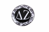 "W1649SC - DELTA ZETA BLACK AND WHITE FLORAL DISK CHARM<BR><FONT size=""2"">Buy 1-2 for $6.25 Each<br>Buy 3-5 for $5.63 Each<br>Buy 6-11 for $3.75 Each<br>Buy 12-23 for $3.56 Each<br>Buy 24-49 for $3.31 Each<br>Buy 50 or More for $2.94 Each</font>"