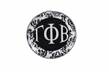 "W1650SC - GAMMA PHI BETA BLACK AND WHITE FLORAL DISK CHARM<BR><FONT size=""2"">Buy 1-2 for $6.25 Each<br>Buy 3-5 for $5.63 Each<br>Buy 6-11 for $3.75 Each<br>Buy 12-23 for $3.56 Each<br>Buy 24-49 for $3.31 Each<br>Buy 50 or More for $2.94 Each</font>"
