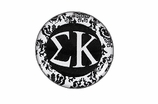 "W1657SC - SIGMA KAPPA BLACK AND WHITE FLORAL DISK CHARM<BR><FONT size=""2"">Buy 1-2 for $6.25 Each<br>Buy 3-5 for $5.63 Each<br>Buy 6-11 for $3.75 Each<br>Buy 12-23 for $3.56 Each<br>Buy 24-49 for $3.31 Each<br>Buy 50 or More for $2.94 Each</font>"