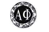 "W1664SC - ALPHA PHI BLACK AND WHITE FLORAL DISK CHARM<BR><FONT size=""2"">Buy 1-2 for $6.25 Each<br>Buy 3-5 for $5.63 Each<br>Buy 6-11 for $3.75 Each<br>Buy 12-23 for $3.56 Each<br>Buy 24-49 for $3.31 Each<br>Buy 50 or More for $2.94 Each</font>"