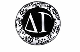 """W1665SC - DELTA GAMMA BLACK AND WHITE FLORAL DISK CHARM<BR><FONT size=""""2"""">Buy 1-2 for $6.25 Each<br>Buy 3-5 for $5.63 Each<br>Buy 6-11 for $3.75 Each<br>Buy 12-23 for $3.56 Each<br>Buy 24-49 for $3.31 Each<br>Buy 50 or More for $2.94 Each</font>"""
