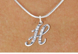 <BR>NICKEL FREE & ADJUSTABLE NECKLACE !<br>    PERSONALIZED INITIAL NECKLACE <bR>               EXCLUSIVELY OURS!! <Br>          AN ALLAN ROBIN DESIGN!! <BR> CLICK HERE TO SEE 1000+ EXCITING <BR>       CHANGES THAT YOU CAN MAKE! <BR>             LEAD & NICKEL FREE!! <BR> W1668SN - SILVER TONE AND CRYSTAL <BR>  SCRIPT ALPHABET INITIAL CHARM ON  <Br>CHOICE OF NECKLACE FROM $4.50 TO $8.35