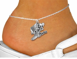 "<bR>       WHOLESALE FASHION ANKLET JEWELRY  <BR>                     EXCLUSIVELY OURS!!  <BR>                AN ALLAN ROBIN DESIGN!!  <BR>          CADMIUM, LEAD & NICKEL FREE!!  <BR>        W1671SA1 - DETAILED SILVER TONE  <Br> ""I LOVE DRILL TEAM"" BOOT & HEART CHARM  <BR>     & ANKLET FROM $3.65 TO $8.30 �2015"