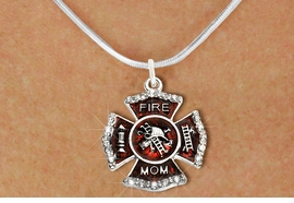 "<BR>     WHOLESALE FASHION FIRE SHIELD JEWELRY  <bR>                        EXCLUSIVELY OURS!!  <Br>                   AN ALLAN ROBIN DESIGN!!  <BR>          CLICK HERE TO SEE 1000+ EXCITING  <BR>                CHANGES THAT YOU CAN MAKE!  <BR>             LEAD, NICKEL & CADMIUM FREE!!  <BR> W1718SN2 - SILVER TONE AND RED EPOXY WITH  <BR>CRYSTAL ACCENTS ""FIRE MOM"" SHIELD CHARM ON  <BR>  SILVER TONE LOBSTER CLASP SNAKE CHAIN NECKLACE  <BR>                FROM $5.40 TO $9.85 �2015"