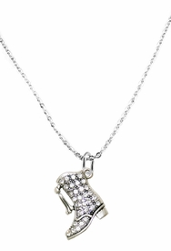 <BR>   WHOLESALE FASHION DRILL BOOT JEWELRY  <bR>                              EXCLUSIVELY OURS!!  <Br>                         AN ALLAN ROBIN DESIGN!!  <BR>                   NICKEL, LEAD, & CADMIUM FREE!!  <BR>              W1721N1- ANTIQUED SILVER TONE AND  <BR>                       CLEAR CRYSTAL DRILL BOOT<BR> CHARM ON LOBSTER CLASP CHAIN NECKLACE  <BR>                       FROM $5.40 TO $9.85 �2015