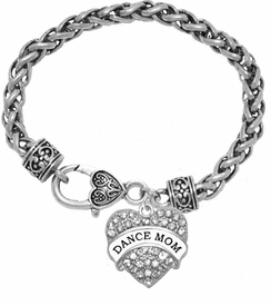 <BR>    WHOLESALE DANCE MOM JEWELRY  <bR>                    EXCLUSIVELY OURS!!  <Br>               AN ALLAN ROBIN DESIGN!!  <BR>        NICKEL, LEAD & CADMIUM FREE!!  <BR>   W1726B1 - ANTIQUED SILVER TONE AND  <BR>                CRYSTAL DANCE MOM HEART <BR>CHARM ON HEART LOBSTER CLASP BRACELET  <Br>            FROM $5.98 TO $12.85 �2015>