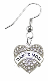 <BR>    WHOLESALE DANCE MOM FASHION EARRING  <bR>                      EXCLUSIVELY OURS!!  <Br>                 AN ALLAN ROBIN DESIGN!!  <BR>           NICKEL,   LEAD, & CADMIUM FREE!!  <BR>      W1726E1 -  SILVER TONE AND  <BR>CLEAR CRYSTAL DANCE MOM CHARM  <BR>     ON SURGICAL STEEL FISHHOOK EARRINGS <BR>              FROM $5.40 TO $10.45 �2015
