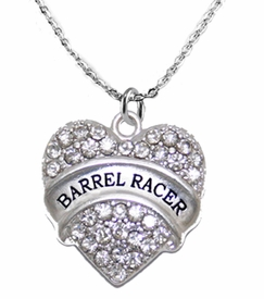<BR>   WHOLESALE FASHION BARREL RACER  JEWELRY  <bR>                              EXCLUSIVELY OURS!!  <Br>                         AN ALLAN ROBIN DESIGN!!<BR>                   NICKEL, LEAD, & CADMIUM FREE!!  <BR>              W1727N1- BEAUTIFUL SILVER TONE AND  <BR>                       CLEAR CRYSTAL BARREL RACER<BR> CHARM ON LOBSTER CLASP CHAIN NECKLACE  <BR>                       FROM $5.40 TO $9.85 �2015