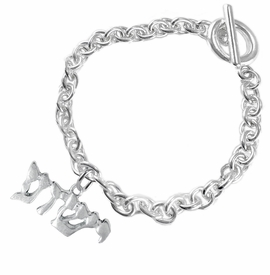 <BR>JESHUA / YESHUA (JESUS IN HEBREW LETTERING)  <BR>                         EXCLUSIVELY OURS!!       <Br>                    AN ALLAN ROBIN DESIGN!!      <br>                             HYPOALLERGENIC    <BR>               NICKEL, LEAD & CADMIUM FREE!       <BR>W1793B5 - BRIGHTLY POLISHED YESHUA CHARM ON    <BR>           CHAIN LINK TOGGLE CLASP BRACELET    <BR>                 FROM $6.23 TO $11.75 �2015