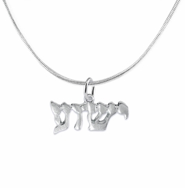 <BR>JESHUA / YESHUA (JESUS IN HEBREW LETTERING)  <BR>                         EXCLUSIVELY OURS!!       <Br>                    AN ALLAN ROBIN DESIGN!!      <br>                             HYPOALLERGENIC    <BR>               NICKEL, LEAD & CADMIUM FREE!       <BR>W1793N2 - BRIGHTLY POLISHED YESHUA CHARM ON    <BR>DELICATE SNAKE CHAIN LOBSTER CLASP NECKLACE  <BR>                 FROM $6.23 TO $11.75 �2015