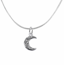 <BR>         WHOLESALE COSTUME CHARM JEWELRY  <BR>                      EXCLUSIVELY OURS!!     <Br>                 AN ALLAN ROBIN DESIGN!!    <br>                          HYPOALLERGENIC  <BR>            NICKEL, LEAD & CADMIUM FREE!     <BR>W1794N2 - ANTIQUED CRESCENT MOON CHARM ON  <BR>DELICATE SILVER TONE SNAKE CHAIN NECKLACE  <BR>              FROM $6.23 TO $11.75 �2015