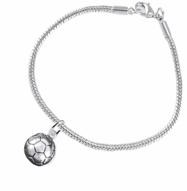 <BR>            WHOLESALE SOCCER SPORTS JEWELRY   <BR>                         EXCLUSIVELY OURS!!        <Br>                    AN ALLAN ROBIN DESIGN!!       <BR>                             HYPOALLERGENIC     <BR>               NICKEL, LEAD & CADMIUM FREE!        <BR>   W1804B7 - 3D SPHERE SOCCER BALL CHARM ON     <BR>    SNAKE CHAIN BRACELET WITH LOBSTER CLASP <BR>                 FROM $6.23 TO $11.75 �2016