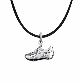 <BR>           WHOLESALE FASHION SPORTS JEWELRY     <BR>                         EXCLUSIVELY OURS!!          <Br>                    AN ALLAN ROBIN DESIGN!!         <BR>                             HYPOALLERGENIC       <BR>               NICKEL, LEAD & CADMIUM FREE!          <BR> W1805N3 - 3D SPORTS CLEAT SNEAKER CHARM ON       <BR>    BLACK SUEDE NECKLACE WITH LOBSTER CLASP   <BR>                 FROM $6.23 TO $11.75 �2016