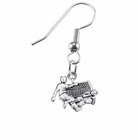 <BR>       WHOLESALE SOCCER TEAM SPORTS JEWELRY     <BR>                         EXCLUSIVELY OURS!!          <Br>                    AN ALLAN ROBIN DESIGN!!         <BR>                             HYPOALLERGENIC       <BR>               NICKEL, LEAD & CADMIUM FREE!          <BR>   W1807E1 - 3D SOCCER GOALIE SAVE CHARM ON       <BR> A PAIR OF SURGICAL STEEL FISH HOOK EARRINGS   <BR>                 FROM $6.23 TO $11.75 �2016