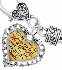 "<BR>            <i>""TO THE WORLD YOU ARE OUR MEMAW,   <BR>                   BUT TO US YOU ARE THE WORLD""</i>  <BR>          BEAUTIFUL WORDS, BEAUTIFUL BRACELET  <BR> HYPOALLERGENIC, NICKEL, LEAD, CADMIUM  FREE!  <BR> W1826B1 - ""MEMAW"" HEART CHARM ON WHEAT CHAIN   <BR>          BRACELET FROM $7.90 TO $12.50 �2016"