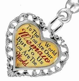 "<BR>           <i>""TO THE WORLD YOU ARE OUR MEMAW,         <BR>                  BUT TO US YOU ARE THE WORLD""</i>        <BR>          BEAUTIFUL WORDS, BEAUTIFUL EARRINGS  <BR> HYPOALLERGENIC, NICKEL, LEAD, CADMIUM  FREE!        <BR>    W1826E2 - ""MEMAW"" HEART CHARM ON SOLID POST      <BR>    STYLE EARRINGS FROM $7.90 TO $12.50 �2016"