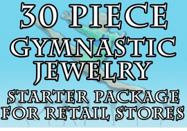 W19998JA - 30 PIECE GYMNASTIC <Br>JEWELRY ASSORTMENT FOR GYMS <br>              AND RETAIL STORES <BR>     YOUR LOW PRICE IS $143.98