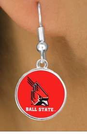 "<Br>         LEAD & NICKEL FREE!!<Br>       OFFICIALLY LICENSED!!! <bR>W20685E - BALL STATE UNIVERSITY <BR>""CARDINALS"" FISHHOOK EARRINGS <BR>         FROM $3.94 TO $8.75"