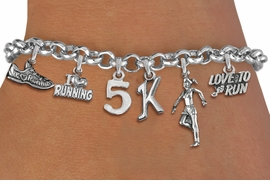 <br> WHOLESALE 1K TO 15K RUNNING JEWELRY <Br>                       EXCLUSIVELY OURS!!<Br>                  AN ALLAN ROBIN DESIGN!!<Br>          LEAD, CADMIUM, & NICKEL FREE!! <Br>W20725B - SILVER TONE 1 TO 15K RUNNING <BR>    THEMED CHARM ADJUSTABLE BRACELET <BR>               FROM $10.60 TO $16.25  �2012