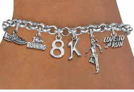 <br> WHOLESALE RUNNING JEWELRY  <Br>              EXCLUSIVELY OURS!!<Br>        AN ALLAN ROBIN DESIGN!!<Br>             LEAD & NICKEL FREE!! <Br>W20726B - SILVER TONE 8K RUNNING <BR>    THEMED CHARM BRACELET <BR>     FROM $7.31 TO $16.25  �2012