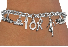 <br> WHOLESALE RUNNING JEWELRY <Br>              EXCLUSIVELY OURS!!<Br>        AN ALLAN ROBIN DESIGN!!<Br>             LEAD & NICKEL FREE!! <Br>W20727B - SILVER TONE 10K RUNNING <BR>    THEMED CHARM BRACELET <BR>     FROM $7.31 TO $16.25  �2012