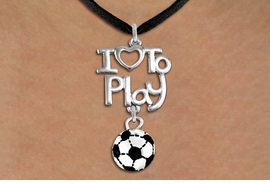 "<br>      WHOLESALE SPORTS FASHION NECKLACE <bR>                    EXCLUSIVELY OURS!!<BR>               AN ALLAN ROBIN DESIGN!!<BR>         CADMIUM, LEAD & NICKEL FREE!!<BR>     W20741N - BEAUTIFUL SILVER TONE <Br>""I LOVE TO PLAY"" & MINI SOCCER BALL CHARM <BR>    NECKLACE FROM $4.64 TO $8.75 �2013"
