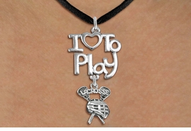 "<br>      WHOLESALE SPORTS FASHION NECKLACE <bR>                    EXCLUSIVELY OURS!!<BR>               AN ALLAN ROBIN DESIGN!!<BR>         CADMIUM, LEAD & NICKEL FREE!!<BR>     W20753N - BEAUTIFUL SILVER TONE <Br>""I LOVE TO PLAY"" & ""LACROSSE"" STICKS & HELMET <BR>CHARM NECKLACE FROM $4.64 TO $8.75 �2013"