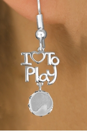 "<br>      WHOLESALE MUSIC FISH HOOK EARRINGS <bR>                    EXCLUSIVELY OURS!!<BR>               AN ALLAN ROBIN DESIGN!!<BR>         CADMIUM, LEAD & NICKEL FREE!!<BR>     W20764E - BEAUTIFUL SILVER TONE <Br>""I LOVE TO PLAY"" & TAMBOURINE CHARM <BR>    EARRINGS FROM $6.23 TO $11.75 �2013"