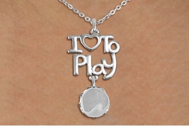 "<br>      WHOLESALE MUSIC FASHION NECKLACE <bR>                    EXCLUSIVELY OURS!!<BR>               AN ALLAN ROBIN DESIGN!!<BR>         CADMIUM, LEAD & NICKEL FREE!!<BR>     W20765N - BEAUTIFUL SILVER TONE <Br>""I LOVE TO PLAY"" & TAMBOURINE CHARM <BR>    NECKLACE FROM $4.64 TO $8.75 �2013"