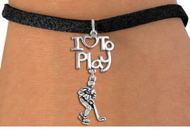 "<br>      WHOLESALE HOCKEY SPORTS BRACELET <bR>                    EXCLUSIVELY OURS!!<BR>               AN ALLAN ROBIN DESIGN!!<BR>         CADMIUM, LEAD & NICKEL FREE!!<BR>     W20790B - BEAUTIFUL SILVER TONE <Br>""I LOVE TO PLAY"" & DETAILED HOCKEY PLAYER <BR>CHARM BRACELET FROM $4.64 TO $8.75 �2013"