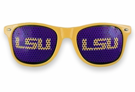 "<BR>OFFICIALLY LICENSED COLLEGIATE ITEM!! <BR> W20814SG - LOUISIANA STATE UNIVERSITY <Br> ""LSU"" LOGO YELLOW GOLD SUNGLASSES <br>      YOURS FOR $7.35 EACH �2013"