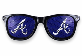 "<BR>OFFICIALLY LICENSED MLB TEAM SHADES!! <BR> W20821SG - THE ATLANTA BRAVES <Br> ""A"" LOGO NAVY SUNGLASSES <br>YOURS FOR $2.50 To $2.88 EACH �2013"