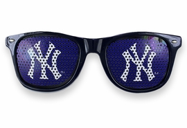 "<BR>OFFICIALLY LICENSED MLB TEAM SHADES!! <BR> W20822SG - THE NEW YORK YANKEES <Br> ""NY"" LOGO NAVY SUNGLASSES <br>      YOURS FOR $3.99"