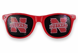 "<BR>OFFICIALLY LICENSED COLLEGIATE ITEM!! <BR> W20823SG - THE UNIVERSITY OF NEBRASKA <Br> ""HUSKERS"" LOGO RED SUNGLASSES <br>      YOURS FOR $7.35 EACH �2013"