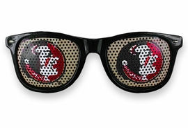 "<BR>OFFICIALLY LICENSED COLLEGIATE ITEM!! <BR>W20825SG - THE FLORIDA STATE UNIVERSITY<Br> ""SEMINOLES"" LOGO BLACK SUNGLASSES <br>      YOURS FOR $7.35 EACH �2013"