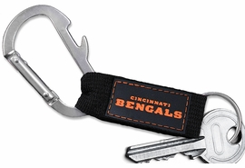<bR> WHOLESALE NFL FOOTBALL TEAM KEYCHAIN <BR>     OFFICIAL FOOTBALL LICENSED!! <br>             LEAD & NICKEL FREE!!! <br>W20883KC - OFFICIAL CINCINNATI BENGALS <BR>  CARABINER WITH BOTTLE OPENER AND <BR>KEY CHAIN YOURS FOR $1.43 To $1.68 EACH �2013