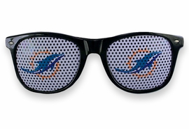 <BR>OFFICIALLY LICENSED NFL TEAM SHADES!! <BR>W20919SG - THE MIAMI DOLPHINS <Br> OFFICIAL LOGO BLACK SUNGLASSES <br>      YOURS FOR $2.50 To $2.88 EACH �2013