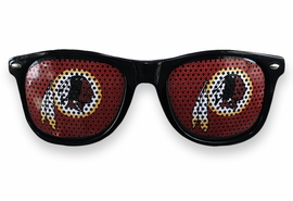<BR>OFFICIALLY LICENSED NFL TEAM SHADES!! <BR>W20921SG - THE WASHINGTON REDSKINS <Br> OFFICIAL LOGO BLACK SUNGLASSES <br>YOURS FOR $2.50 To $2.88 EACH �2013