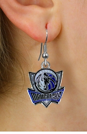 <bR>             LEAD & NICKEL FREE!! <Br>            OFFICIAL NBA LICENSED!! <Br>NATIONAL BASKETBALL ASSOCIATION!! <Br>   W20998E - DALLAS MAVERICKS <Br> SILVER TONE FISH HOOK EARRINGS <BR>         FROM $2.99 �2013