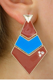 <BR>        WHOLESALE FASHION EARRINGS <Br>    CADMIUM, LEAD AND NICKEL FREE!! <Br>W21117E - THREE TIERED GOLD TONE BROWN <BR>AND TURQUOISE FILL AND CRYSTAL EARRINGS <Br>          FROM $5.63 TO $12.50 �2013