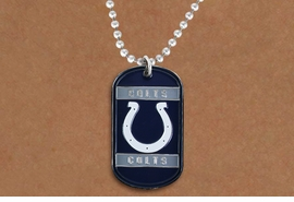 <br>WHOLESALE FOOTBALL DOG TAG NECKLACES <Br>       LEAD & NICKEL FREE!!<Br>      OFFICIALLY LICENSED!!<Br>NATIONAL FOOTBALL LEAGUE!!<Br>W21161N - INDIANAPOLIS COLTS <Br>     NFL DOG TAG NECKLACE<br>        FROM $2.99