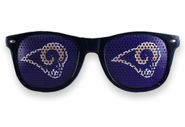 <BR>OFFICIALLY LICENSED NFL TEAM SHADES!! <BR>W21172SG - THE SAINT LOUIS RAMS <Br> LOGO DARK NAVY SUNGLASSES <br>YOURS FOR $2.50 To $2.88 EACH �2013