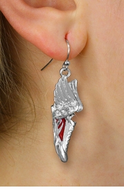 <BR>      WHOLESALE TRACK AND FIELD JEWELRY<bR>            EXCLUSIVELY OURS!! <BR>       AN ALLAN ROBIN DESIGN!! <BR> CADMIUM, LEAD & NICKEL FREE!! <BR> W21205E - SILVER TONE AND CRYSTAL <Br>WINGED RED SNEAKER CHARM EARRINGS <BR>     FROM $3.15 TO $7.50 �2014