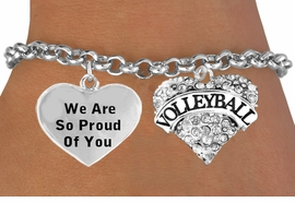 <BR>                                  VOLLEYBALL HEART CHARM BRACELET WHOLESALE <bR>                 W21382B - THE NEW WAY TO EXPRESS LOVE, MOTIVATION,<BR>          POSITIVE, AFFIRMATIVE EXPRESSIONS, THAT WILL GO PERFECTLY<br>        WITH ANOTHER POSITIVE AFFIRMATION CHARM IF YOU WANT  ONE,<BR>   MORE CHOICES LOOK BELOW,  CHARM BRACELET FROM $9.42 TO $12.87<BR>                                    CostumeJewelryWholesale.com �2014